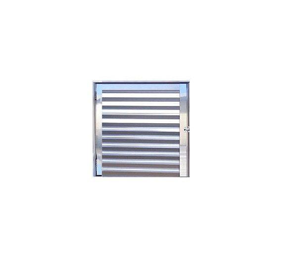 Porta Abrigo / Alumínio Brilhante / Linha 25