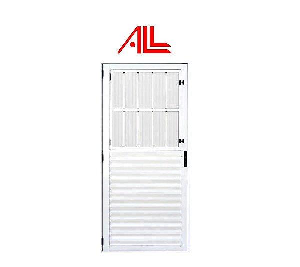 Porta Social 2,10 x 0,80 / Alumínio Branco