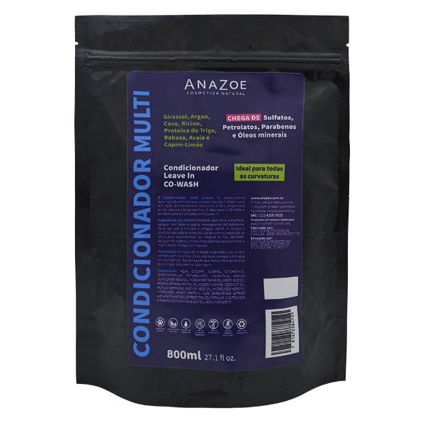 Refil Condicionador Multi AnaZoe 800ml
