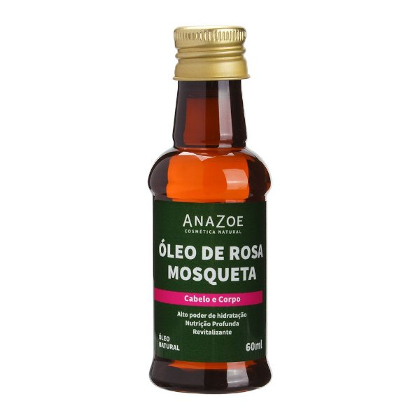 Óleo de Rosa Mosqueta Cabelo e Corpo 60ml Anazoe
