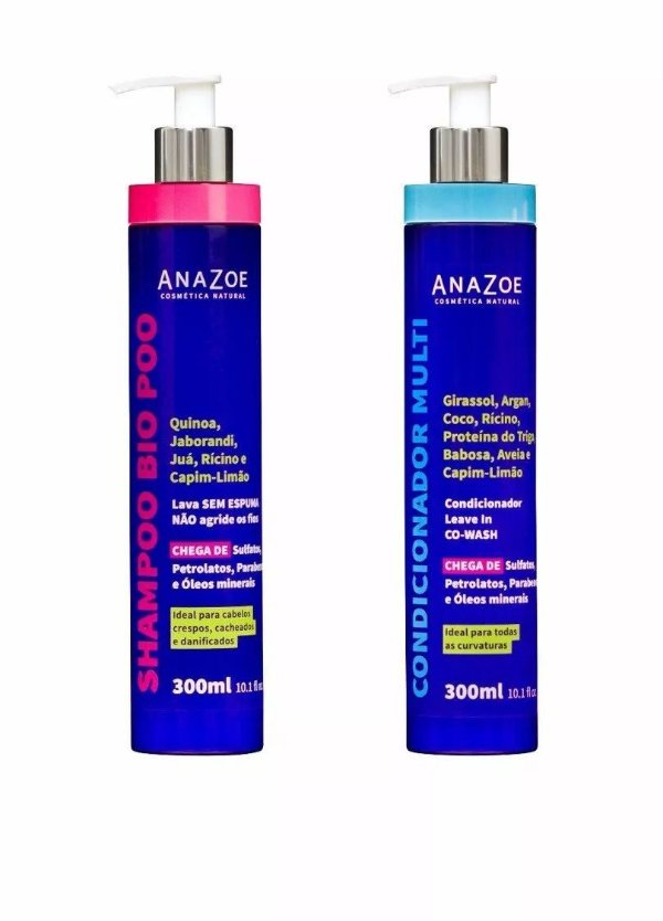 Shampoo Bio Poo + Condicionador Multi 300ml - Anazoe