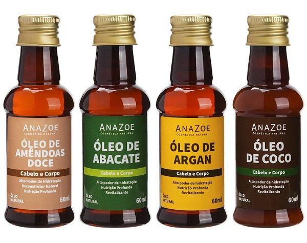Kit óleos Cabelo e Corpo Cabelos Cacheados Anazoe