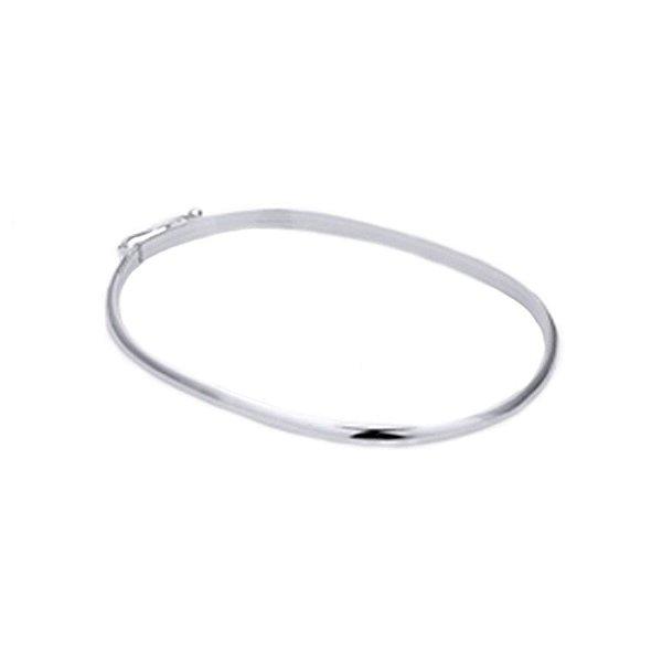 Pulseira Bracelete Lisa 2 mm de Prata Vizaro