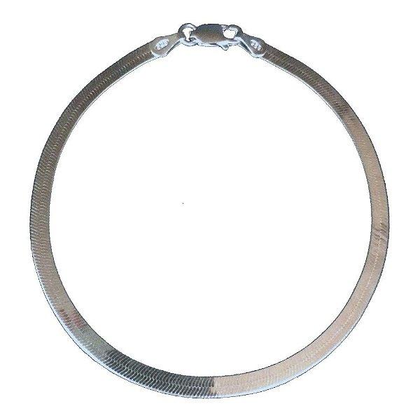 Pulseira de Prata Laminada 3 mm Vizaro
