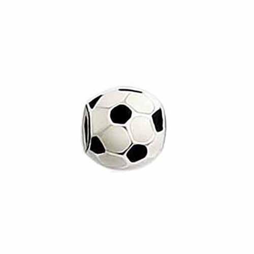 Berloque de Prata Bola de Futebol Esmaltada Vizaro