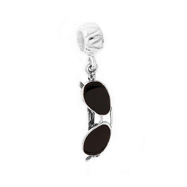 Berloque de Prata Óculos Mod Rayban Preta Vizaro