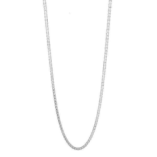 Corrente de Prata Veneziana 40 cm Vizaro