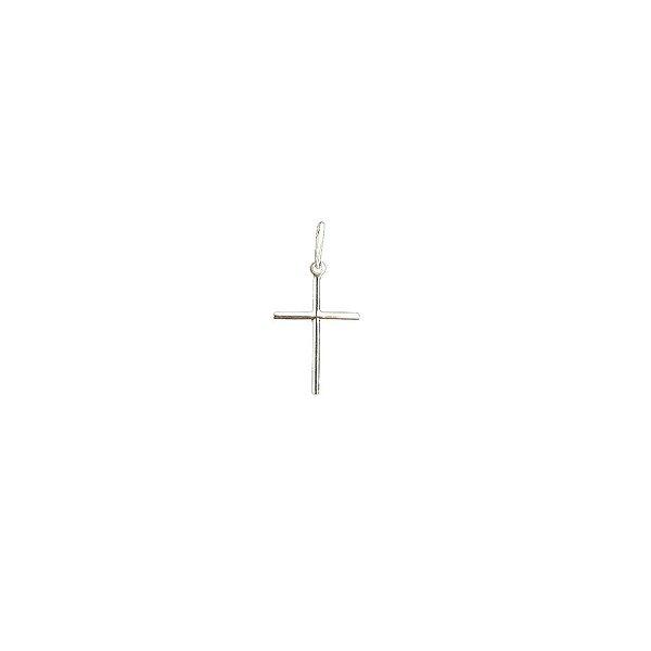Pingente Cruz Palito Mini de Prata Vizaro