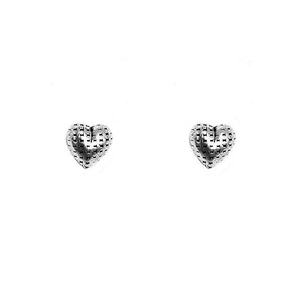 Brinco Coração com Pontinhos de Prata Vizaro