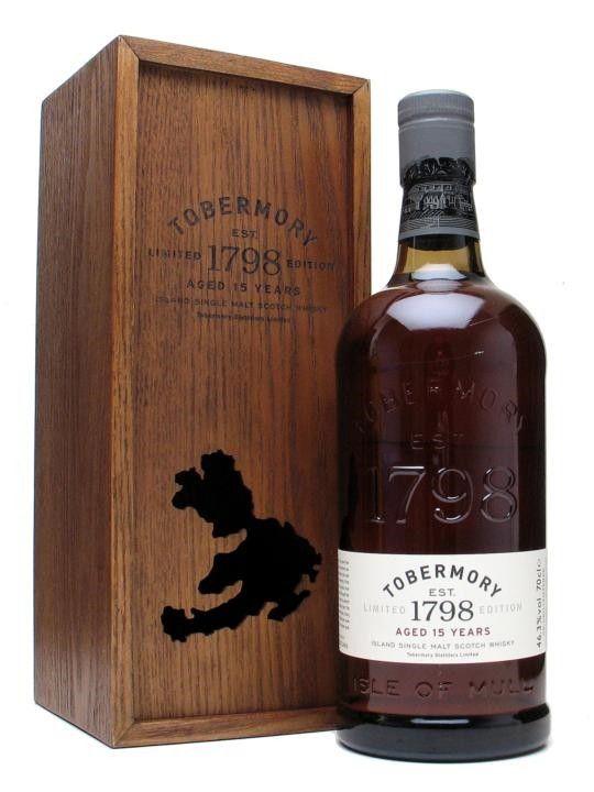 Whisky Tobermory 15 Year Old Single Malt Scotch Whisky - 700ml