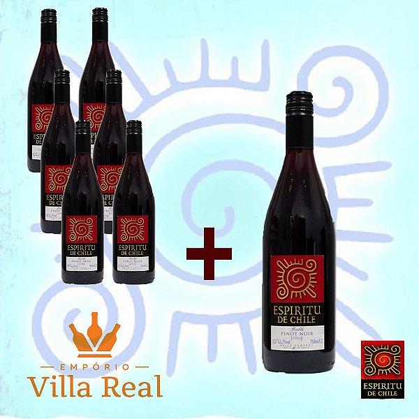 Combo Espiritu de Chile Pinot Noir – Compre 06 un e Ganhe 01 Grátis