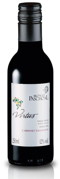 Vinho Tinto Fino Seco Cabernet Sauvignon Virtus 250 ml