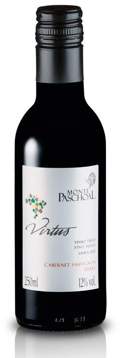 Vinho Tinto Fino Suave Cabernet Sauvignon Virtus 250 ml