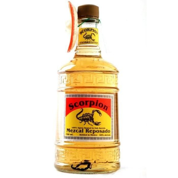 Tequila Mezcal Reposado Scorpion Com Escorpião 700 Ml