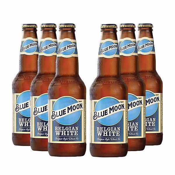 Pack com Cerveja Blue Moon White 355ml