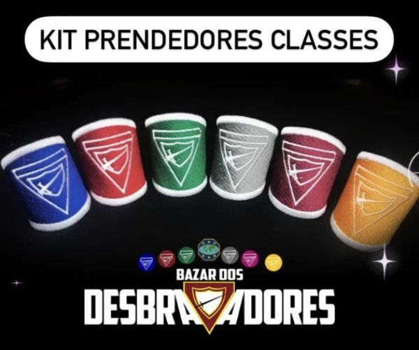 Kit Prendedores das Classes (Totalmente Bordado) - Frete Grátis para todo Brasil