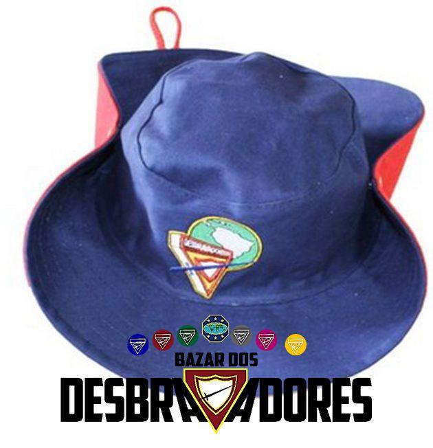 CHAPÉU AUSTRALIANO DESBRAVADOR - (Azul e Vermelho)