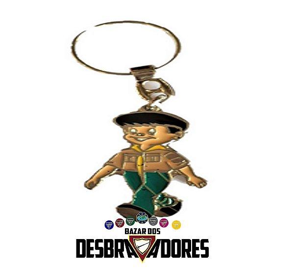 CHAVEIRO MENINO DESBRAVADOR CAQUI