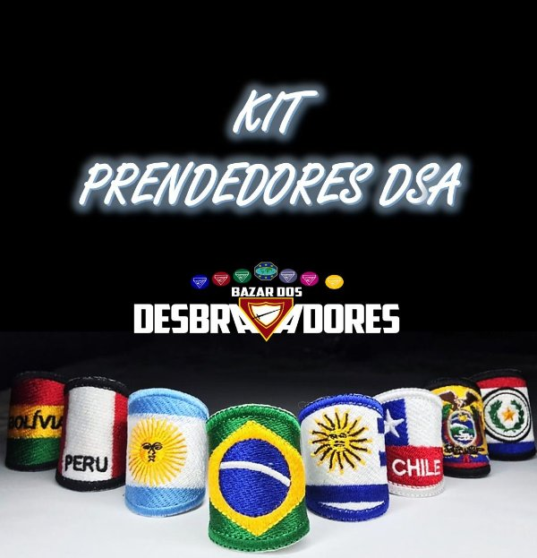 Kit Prendedores DSA (Totalmente Bordado) - Frete Grátis para todo Brasil