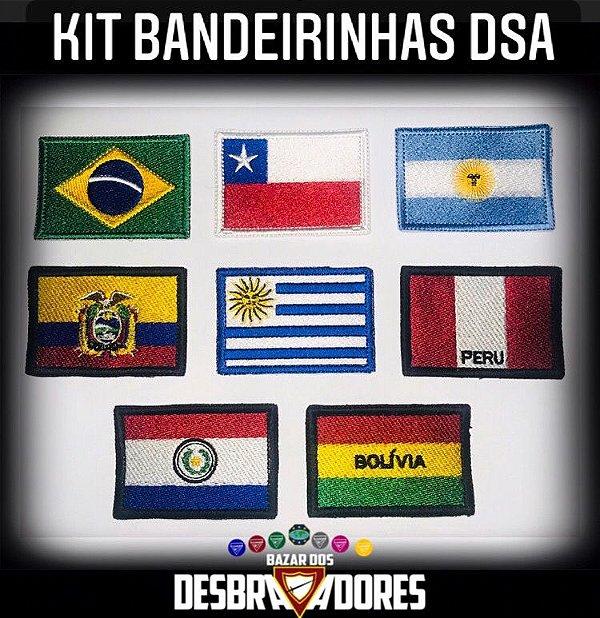 Kit Bandeirinhas DSA (Frete grátis Br) - 5cm x 7,4cm cada