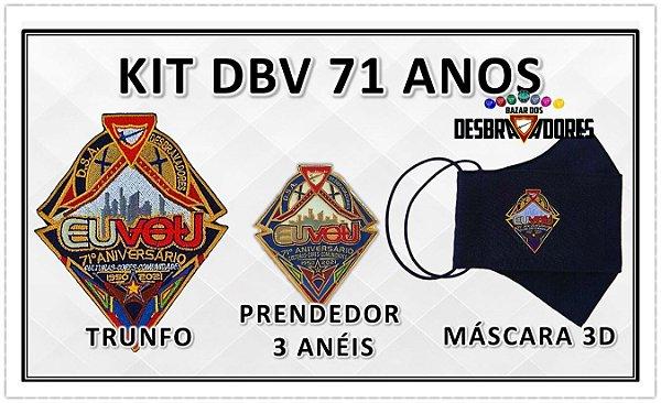 KIT DBV 71 ANOS (Trunfo, Prendedor 3 anéis e Máscara 3D)