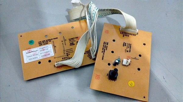PLACA ELETRONICA INTERFACE + PLACA PRESSOSTATO LAVADORA ELECTROLUX 10 12 15 KG 127V 220V ORIGINAL