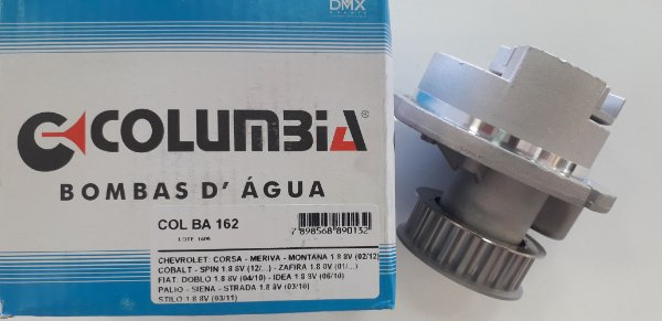 BOMBA DÁGUA MOTOR CORSA / MONTANA / MERIVA / PALIO / IDEA / STRADA 1.8 GM 8VALV.