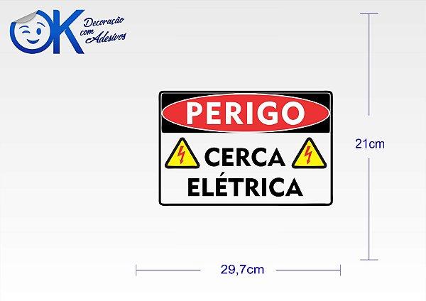 2483ea323e80f Placa de sinalização - Perigo 004 - OK Adesivos