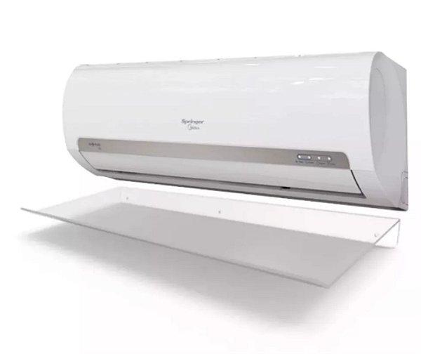 2 Unidades de Defletor para Ar Condicionado split de 7.000 a 12.000 BTUs em acrílico transparente - 95x36cm