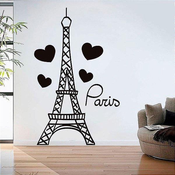 Adesivo de Parede Torre Paris
