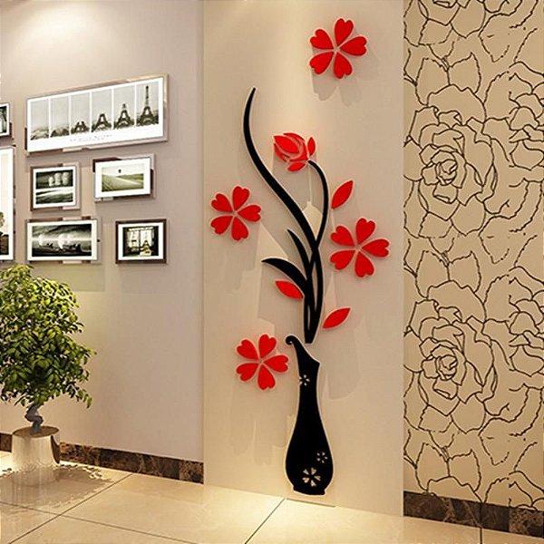 Flor em 3D em acrílico Grande