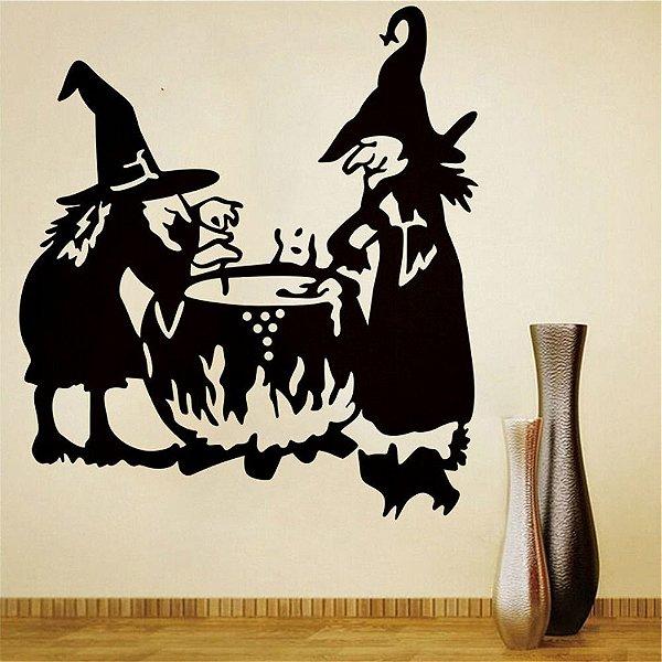 Adesivo de Parede Bruxa Halloween M2
