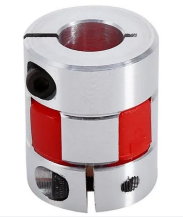 Acoplamento Jaw para Motor de Passo  5x6,35  mm Alumínio