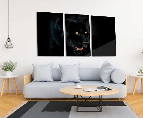 Quadro Decorativo Canvas Pantera Negra
