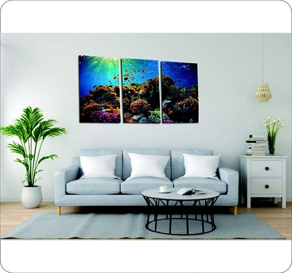 Quadro Decorativo Canvas Fundo do Oceano