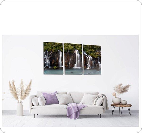 Quadros Decorativos Canvas Cachoeira 3 peças