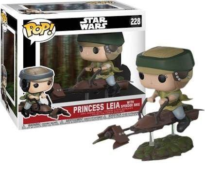 Funko POp - Star Wars: Leia with Speeder Bike - Nº 228