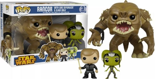 Funko Pop - Star Wars - Pack Rancor, Luke E Slave Oola
