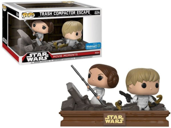 Funko Pop - Star Wars: Movie Moment - Trash Compactor Escape (exclusivo Walmart) - Nº 224
