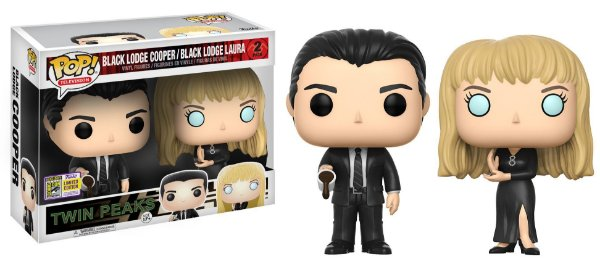 Funko Pop - Twin Peaks - Blacl Lodge Cooper And Black Lodge Laura (Exclusivo SDCC 2017)