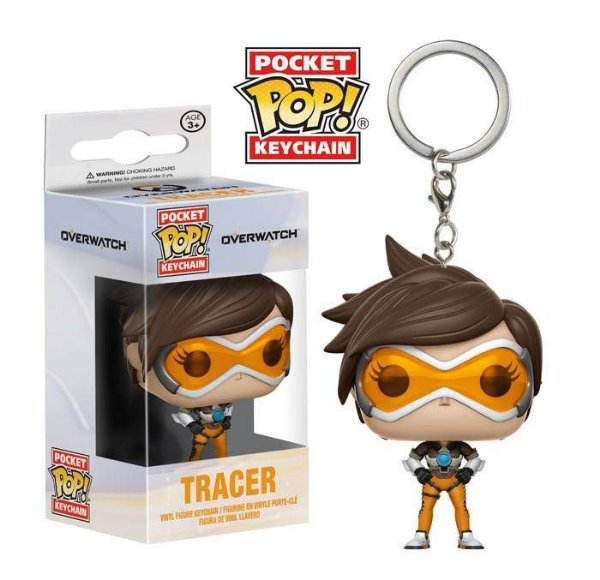 Funko - Chaveiros - Overwatch -  Tracer