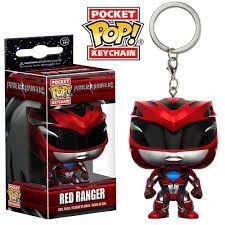 Funko - Chaveiros - Power Ranger - Red Ranger