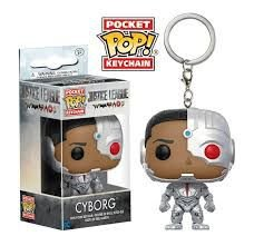 Funko - Chaveiros - Justice League - Cyborg