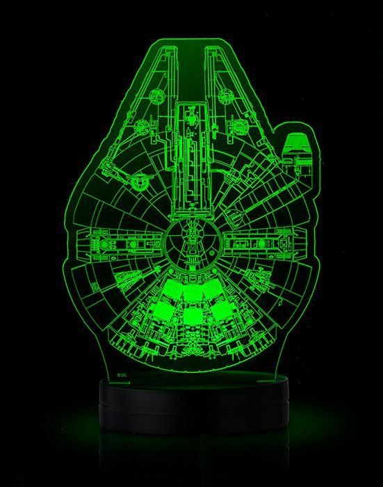 Luminária - Star Wars: Schematics Illuminated Display (millenium and Death Star) - Nº XXX