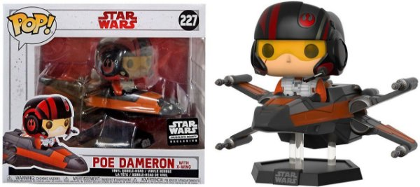 Funko Pop -  Star Wars -  Poe Dameron with X-wing - Exclusive Smugglers Bounty