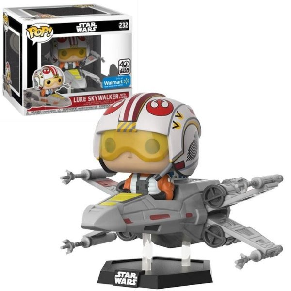 Funko Pop - Star Wars: Luke Skywalker with x-wing (Exclusivo Wall Mart) - Nº 232