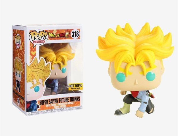 Funko Pop DBZ:Super Saiyan Future Trunks Excl HotTopic 318