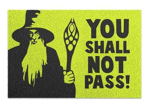 Capacho em You Shall Not Pass - 60 x 40