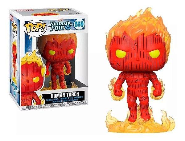 Funko Pop Marvel Fantastic Four: Human Torch 559