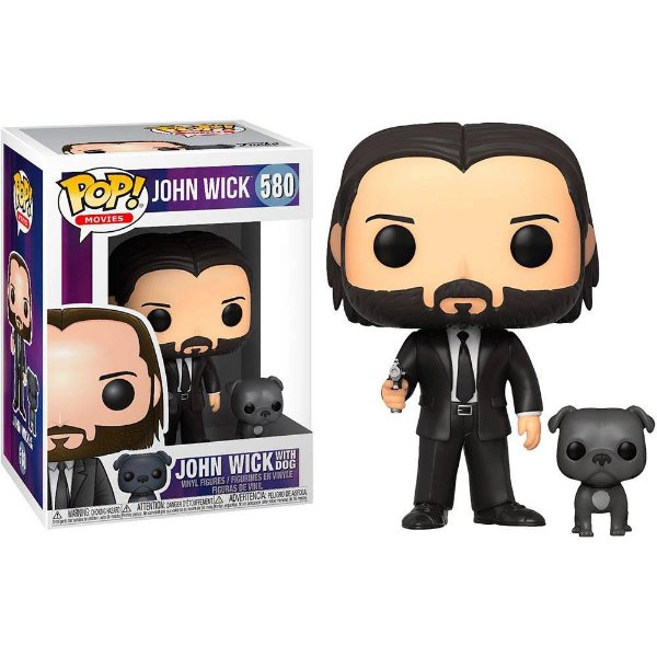 Funko Pop John Wick: John (Black Suit) with Dog 580